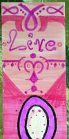 Live Pink Breast Cancer Awareness Bookmark by Timmytushoes