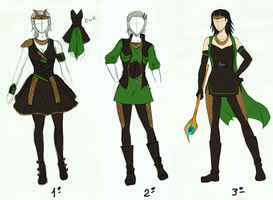 Loki's female designs by LenaKuroHana
