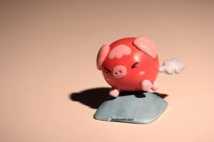 Pinky the Farting Pig by ricebowlfactory