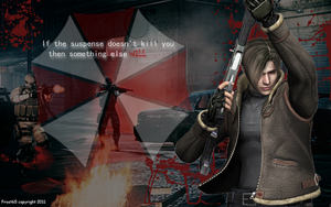 RE2 - Leon Wallpaper by Frost65