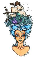 Mermaid Hair... and a ship too by Yaraffinity