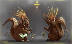 Diablo 3 - Squirrel is back - Witch Doctor by Sickbrush
