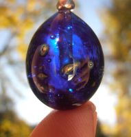 Milky Way glass pendant by fairyfrog