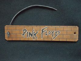 Pink floyd  carved leather bracelet by dionesambrozius