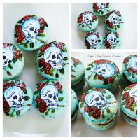 Ed Hardy inspired macaron cookies by SugarRushCustomCooki