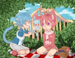 CE: Miero and Fuuton- Pet Picnic by licoriceskittles