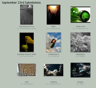 September 23rd Submissions by Optimal-Photo