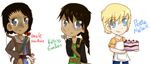 The Hunger Games Trio by AnthyBell