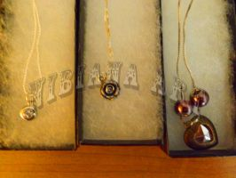 3 Necklaces-Heart is reversible-2 by AxelOfArt