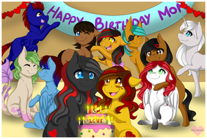 Shimmer Family birthday by Pillonchou