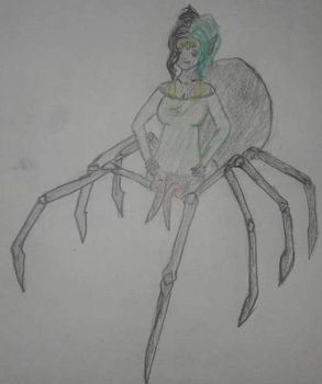 Sketchy Spider Darling by faeryhond