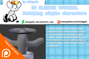 Patreon exclusive: Blender modeling tutorial by molegato