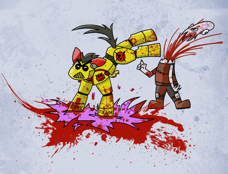 Angry Marine - My Little Pony - Splat Version by Buttery-Commissar