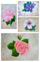 Flower Paintings by kookybat