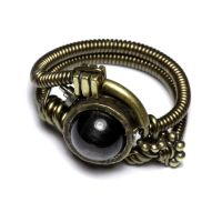 Steampunk Hypersthene Ring by CatherinetteRings
