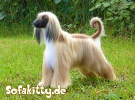 Needle Felted Afghan Hound Ramses by Sofakitty
