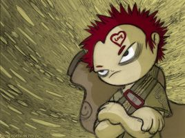 Fanart Gaara by FrancisOrtolan