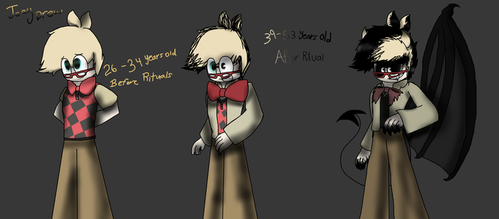 Joey Drew through the years and designs by SpeedyCat1234