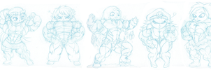 Ridiculously massive muscle chibis 4 by astaroth90