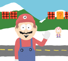 South Park Mario by Blade-zulah