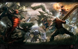 Dota2 Clash of Heroes 1 Redux! by kunkka