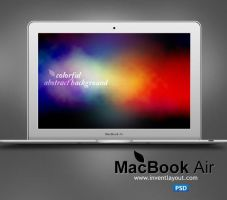 Apple MacBook Air PSD by atifarshad