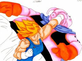Vegeta vs Buu by Niruharu