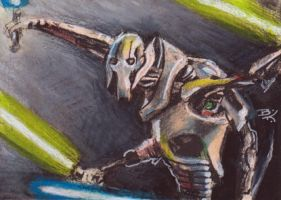 General Grievous Sketch Card 2 by Ethrendil