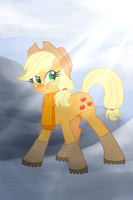 Winter AppleJack by White0Canvas