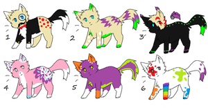 Cat Adoptables 6 *2 Left!!!* by LuxaAdoptables