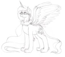 Elements of Chaos Lavender Starnight Sketch by Wildnature03