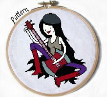 Marceline Sitting cross stitch pattern by JuliefooDesigns
