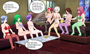 Fairy Tail Slumber Party by quamp