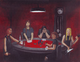 Dethklok Playing Poker by evilseedlet