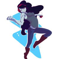 Marceline, you work that air guitar. by Endette