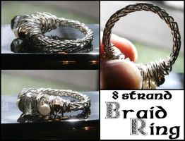 8-Strand Braid Ring by WrappedbyDesign