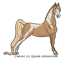American Saddlebred for Nanurtalik by Mishranna