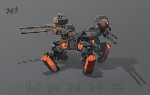 light assault mech by SoundHunter
