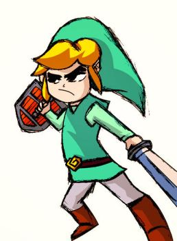 Link (Wind Waker) by Whatsome