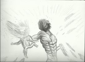 Attack on titan by WarGFX