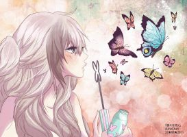 - Blowing Butterflies - by xLumina