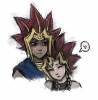 Yugi and Atem for Ko by AnneDyari