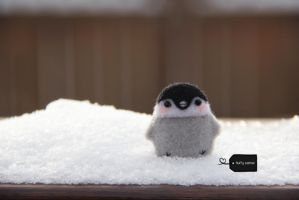 Needle felted penguin for sale by FluffyParcel