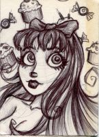 Stocking Sketch Card by UnderCoverCottonswab