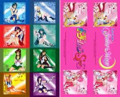 Sailor Senshi Bookmark All by phoenixcrash