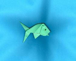 Origami Fish by JubbenRobot