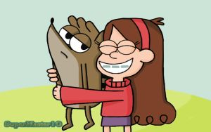 Mabel Meets Rigby by SuperMaster10