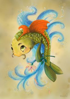 Fish with flower by masha88