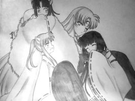 Sesshomaru and Kikyo family portrait by HuoYanXing
