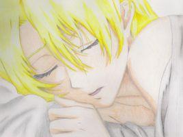Sleeping Bishie by ilikeceeereal